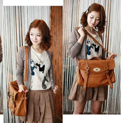 Retro Ladies Women Hobo Bag Satchel Bookbag Leather Purse Cross ...