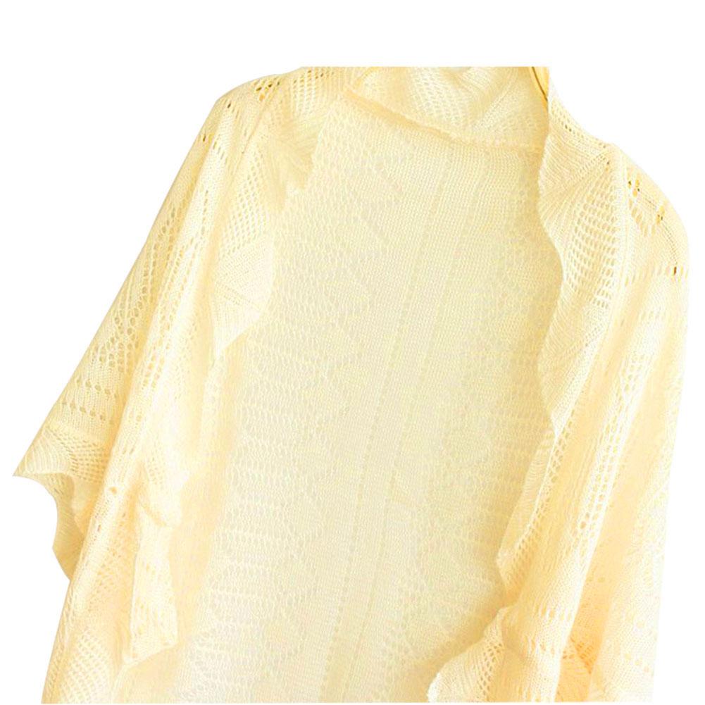 Ladies Hollowed Dolman Sleeve Knitted Crochet Sweater Shirt Top Coat Cardigan
