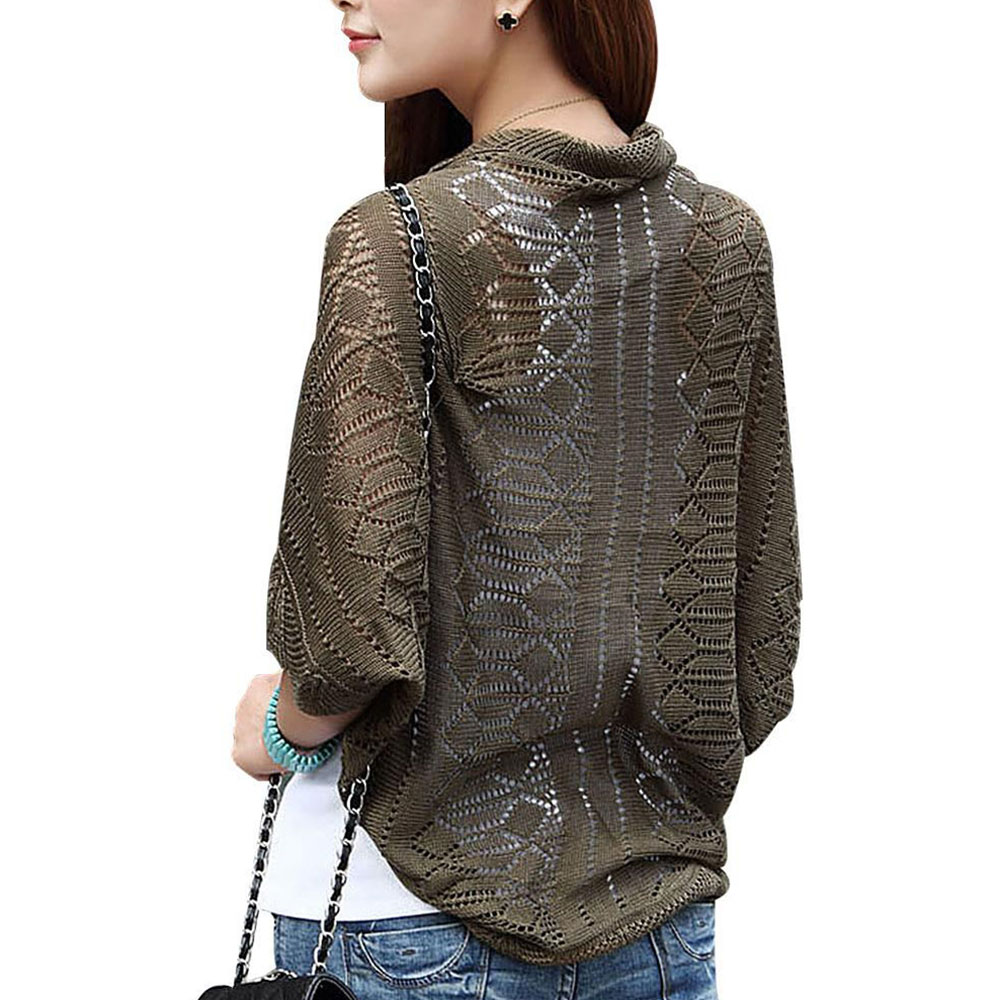 Women Ladies Knitted Crochet Kimono Tops Coat Cardigan Blazer Jacket Shawl ...