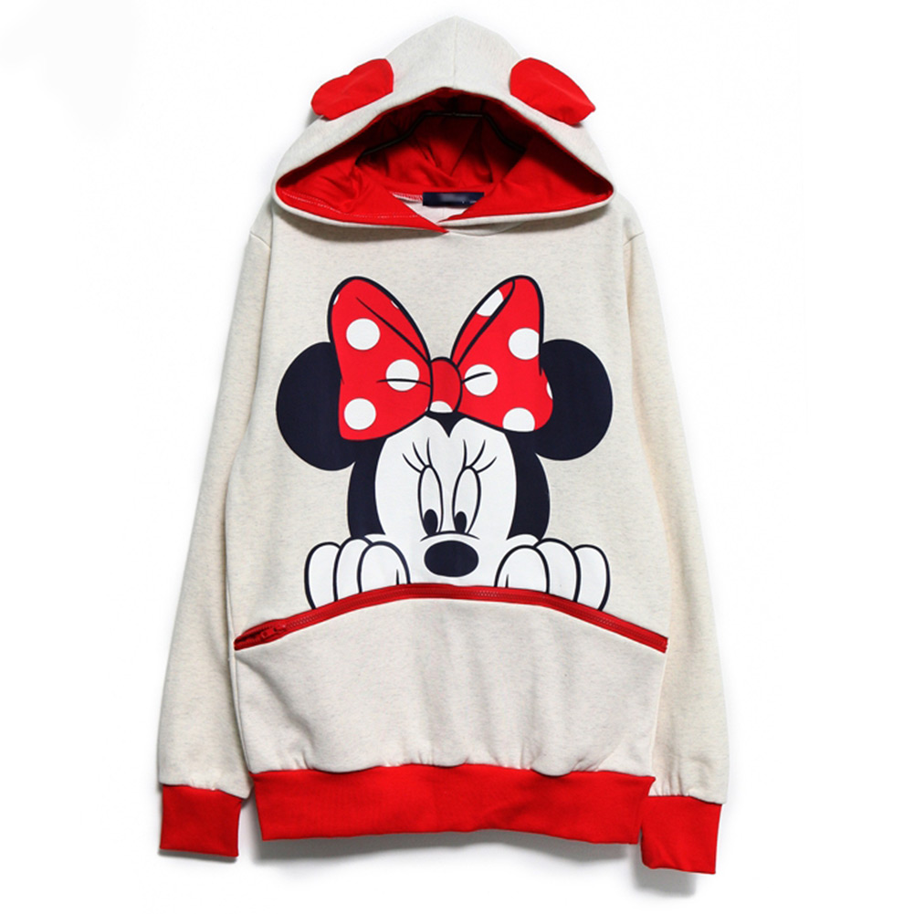 Girls Boys Mickey Minnie Mouse Ear Emo Sweater Tops Shirt Jumper Hoodie Pullover