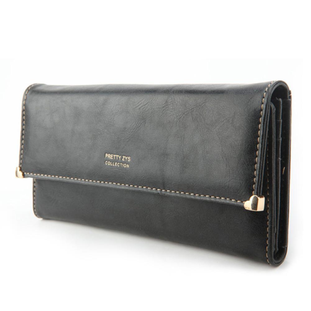 Women's New Fashion Clutch Matte Leather Wallet Lady Card Purse Handbag