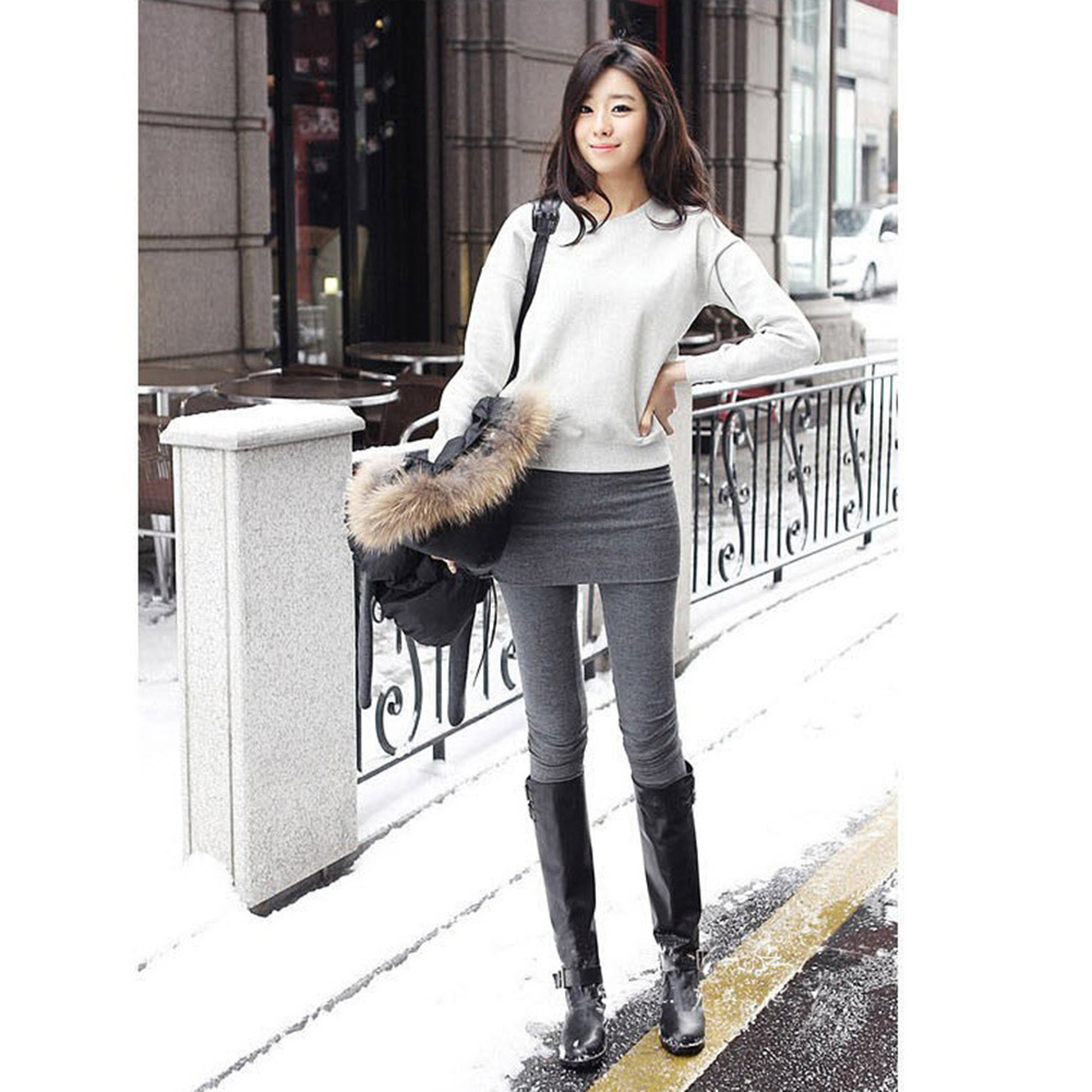 2013 Winter Autumn Soft Cotton Women's Mini *Band Skirt Stretch Pants