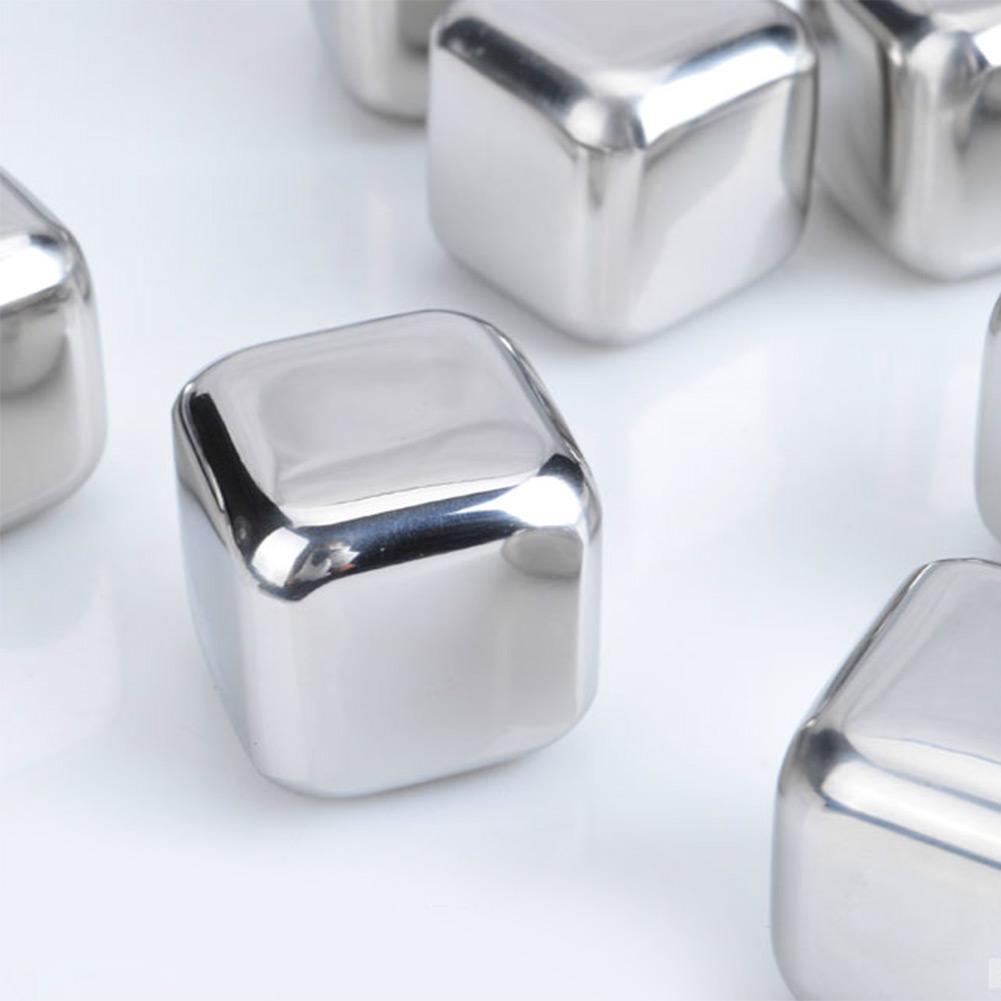 Stainless Steel Whiskey Stones Ice Cubes Soapstone Cooler Stone Freezer 2Type