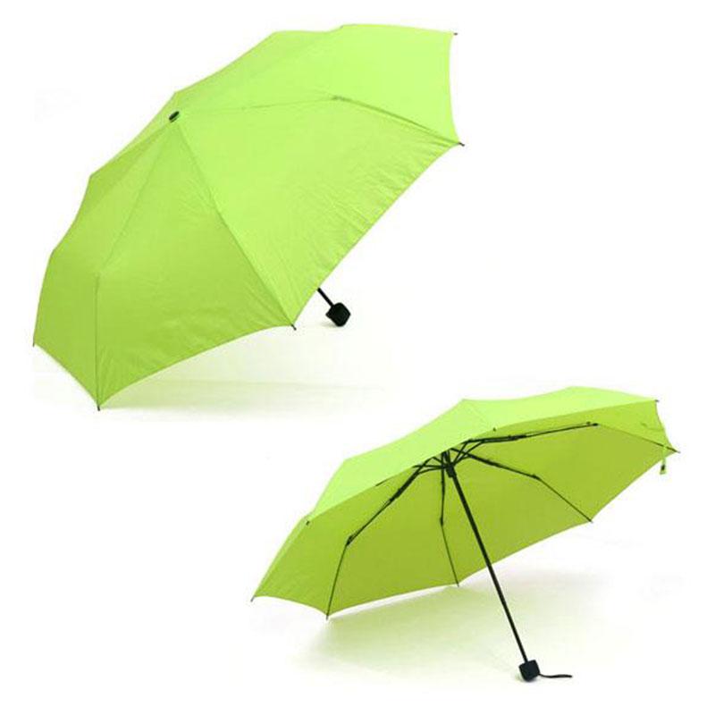 Portable Windproof Waterproof Compact Folding Tri-folded Extension Umbrella