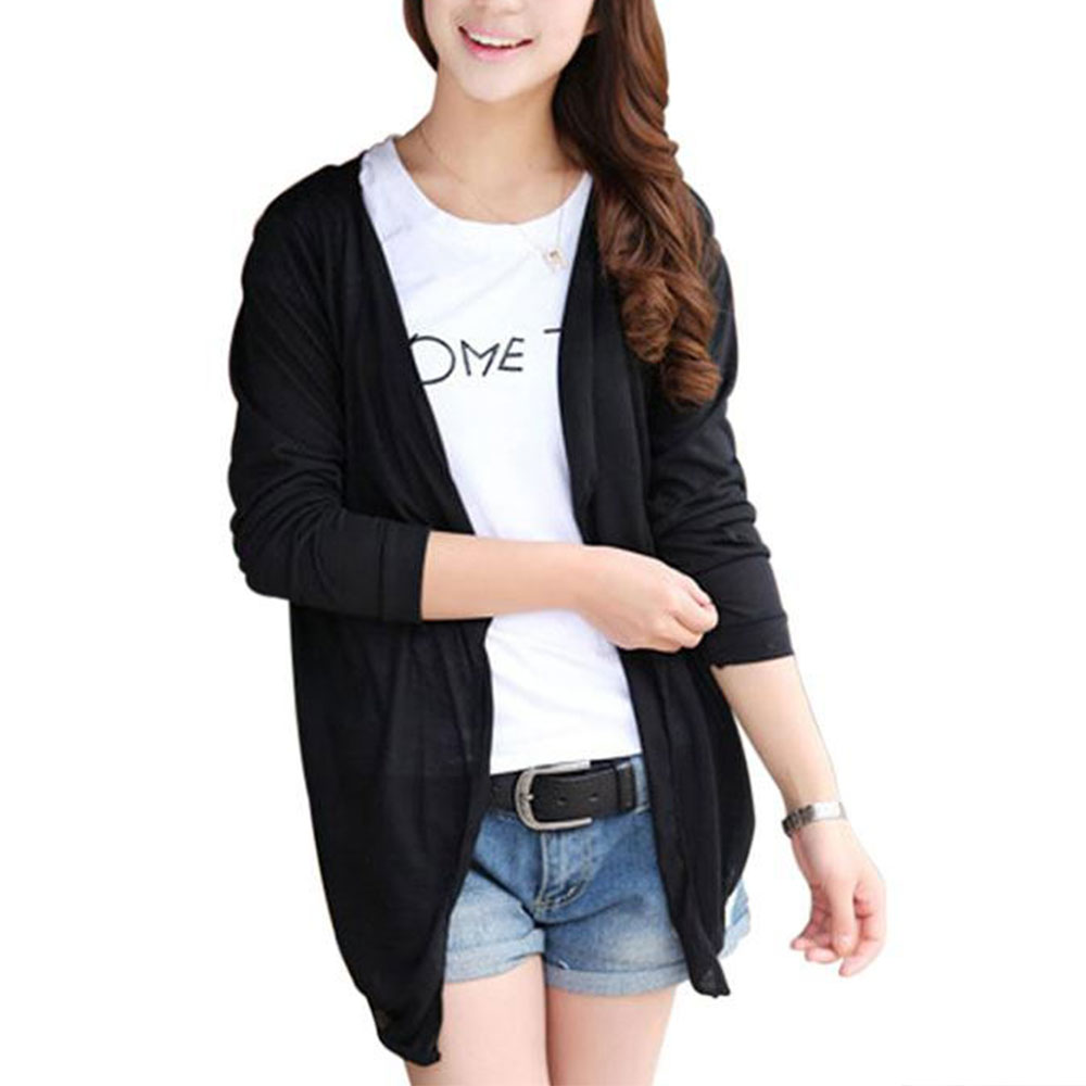 Womens Long Cardigan Sunscreen Anti-UV Thin Coat Outwear Sunblock Tops