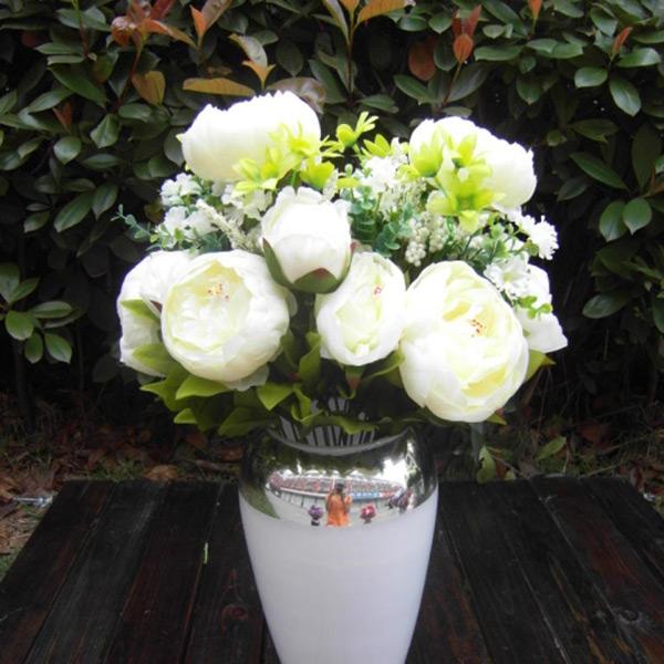 Artificial Fake Peony Flower Bud Bouquet Home Wedding Garden Hydrangea
