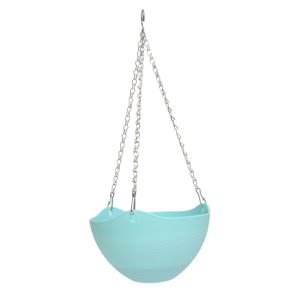 Plastic plant planter hanging pot chain balcony decor for Decorative hanging pots