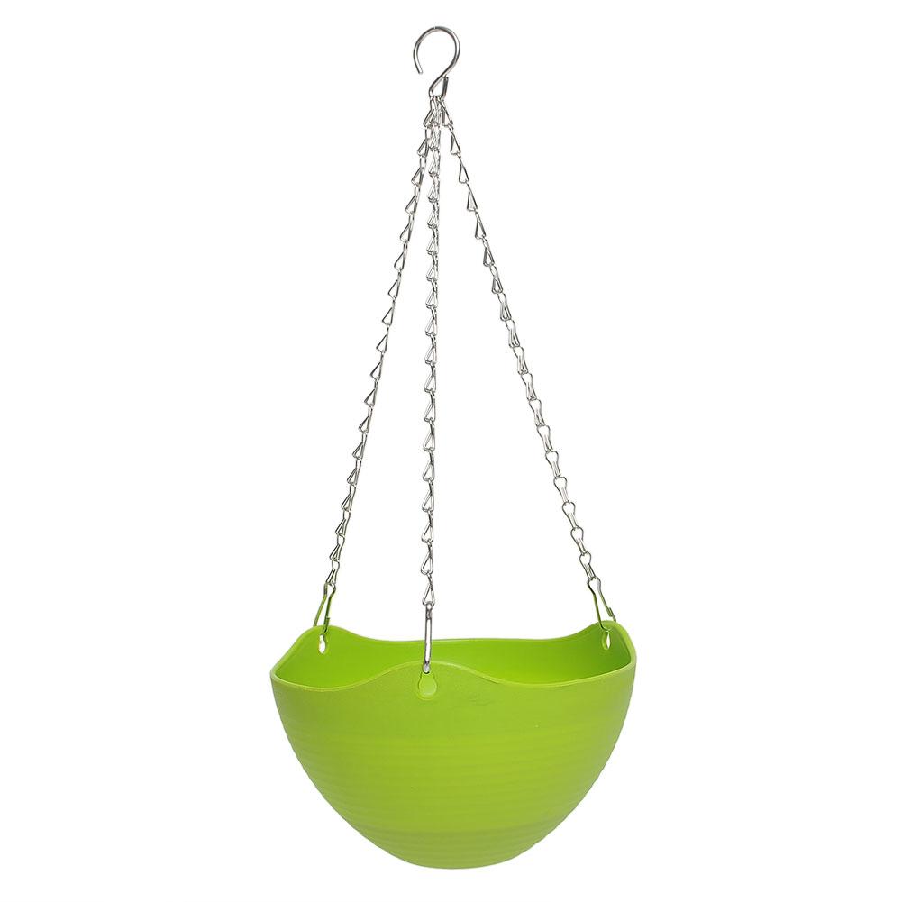 Plastic Herb Plant Planter Hanging Pot Chain Basket Indoor
