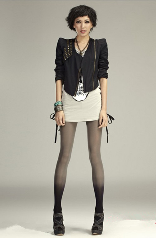 Fashion Women Girls Sexy Velvet Slim Leggings Tights Elastic Gradient Pantyhose