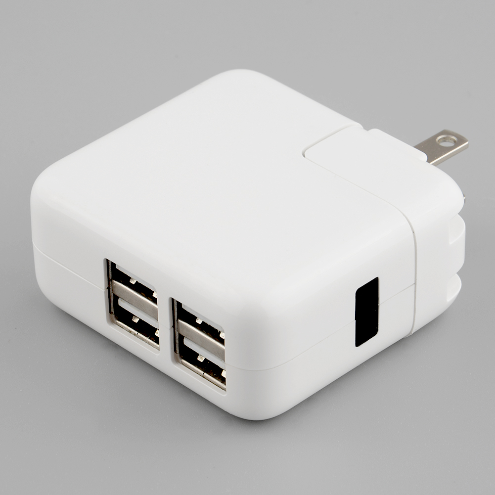 4 Ports USB AC Power Wall Charger Adapter Travel With US