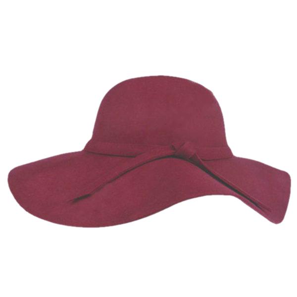 Stylish Vintage Women's Lady Wide Brim Wool Bowler Fedora Hat Cloche Cap
