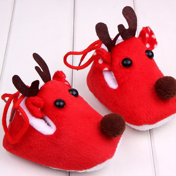 Hot Baby Cute Deer Lovely Crib Shoes Toddler Prewalking Shoes 4Colors