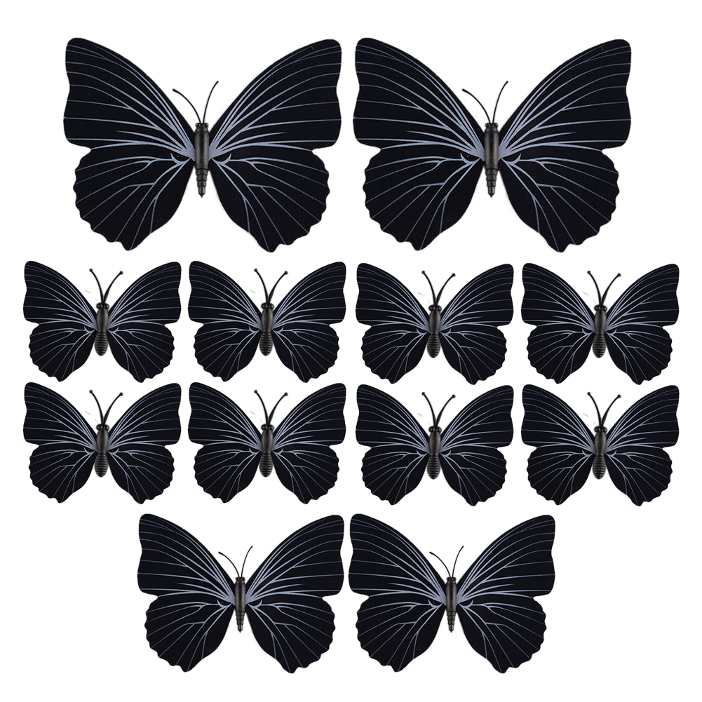 3d butterfly decal wall stickers home room decorations 12pcs decoration ebay. Black Bedroom Furniture Sets. Home Design Ideas