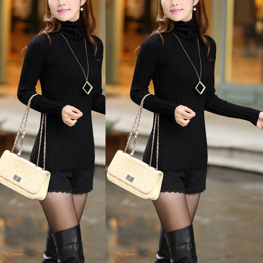 New Women Lady Turtleneck Winter Knitwear Sweater Tops Pullover Outwear Blouse