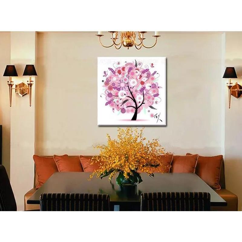 Four season home decor colorful tree cross stitch for 4 season decoration