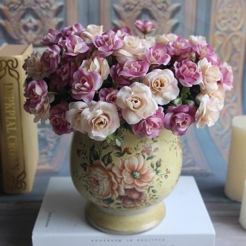 Austin 15 heads Autumn Silk Flowers Artificial Rose Bridal Party Home