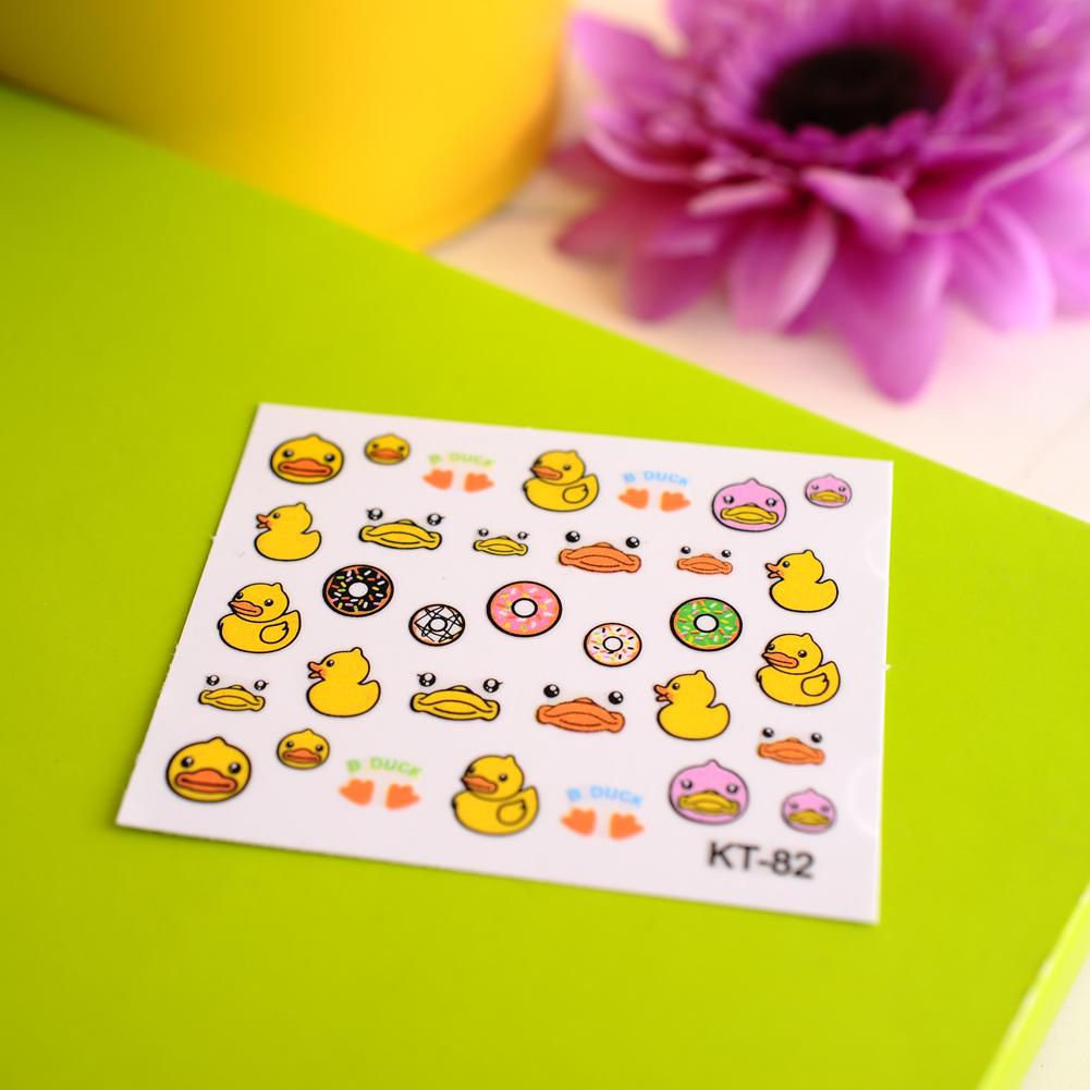 Pro 3D Cartoon Cat Mixed Design Decal Stickers Nail Art Manicure Tips DIY