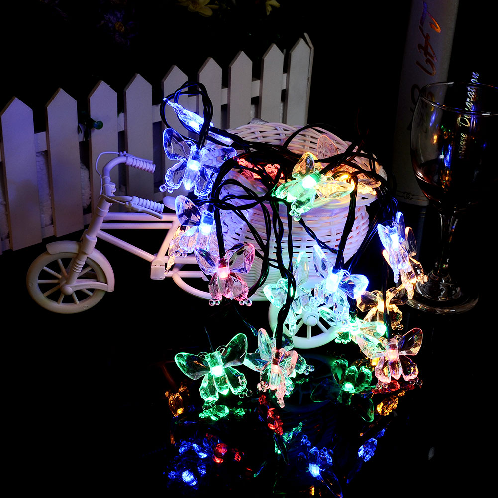 Electric Butterfly String Lights : Solar 20 LED Butterfly Home Garden Xmas Tree Christmas Party Decor String Light eBay