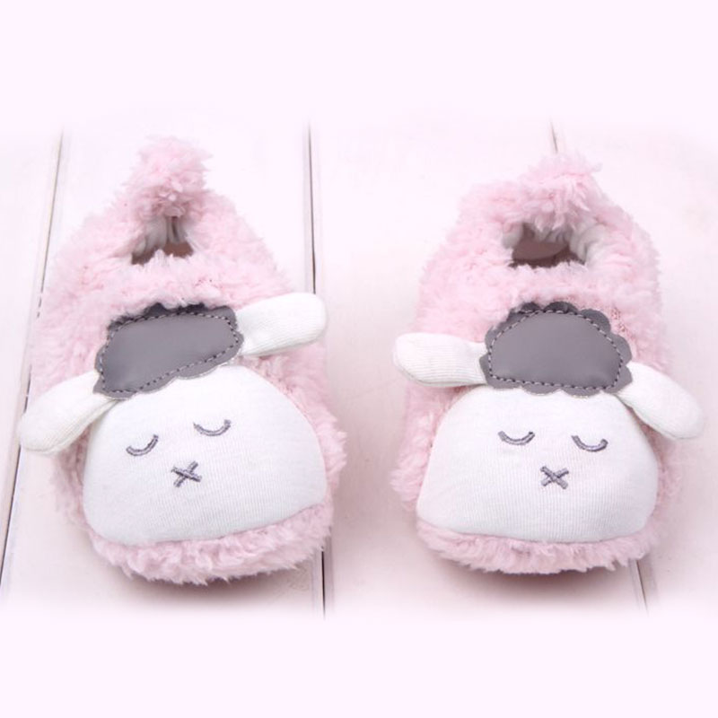 Baby Toddler Slipper Boots Sheep Antiskid Prewalker Sneaker Crib Shoes