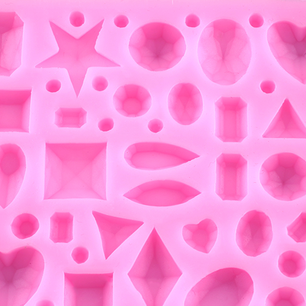Jewel Diamond Fondant Mould Cake Decorating Sugarcraft ...
