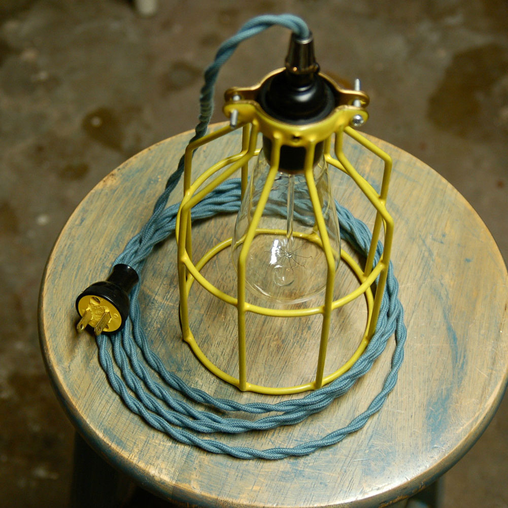 Metal Guard for Pendant String Light Vintage Lamp Holder Wire Iron Bulb Cage eBay