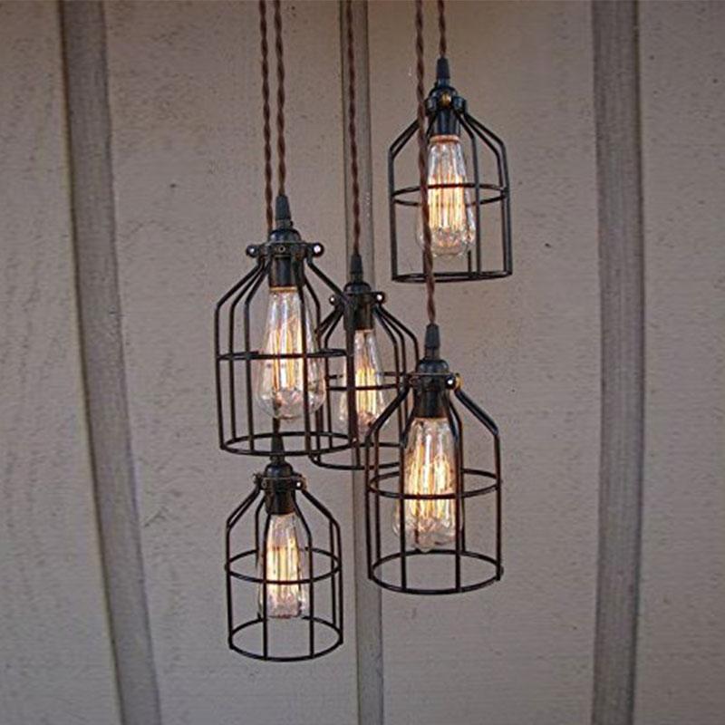 Metal Guard For Pendant String Light Vintage Lamp Holder