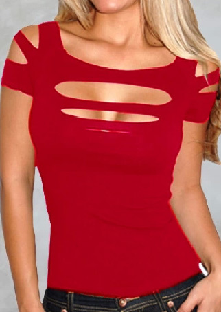 Woman Hole Distressed Off Shoulder Summer Bodycon