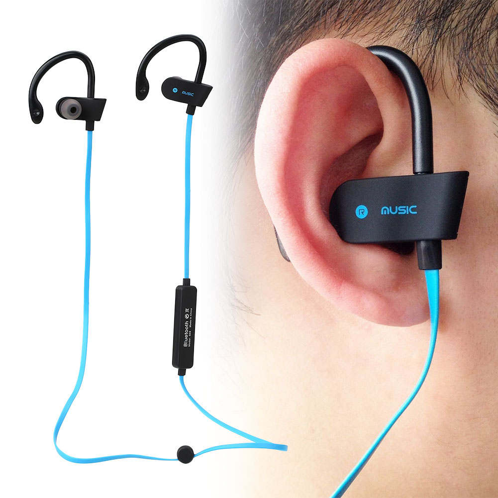 bluetooth 4 1 wireless stereo bass headphones sport earphones for cellphone. Black Bedroom Furniture Sets. Home Design Ideas