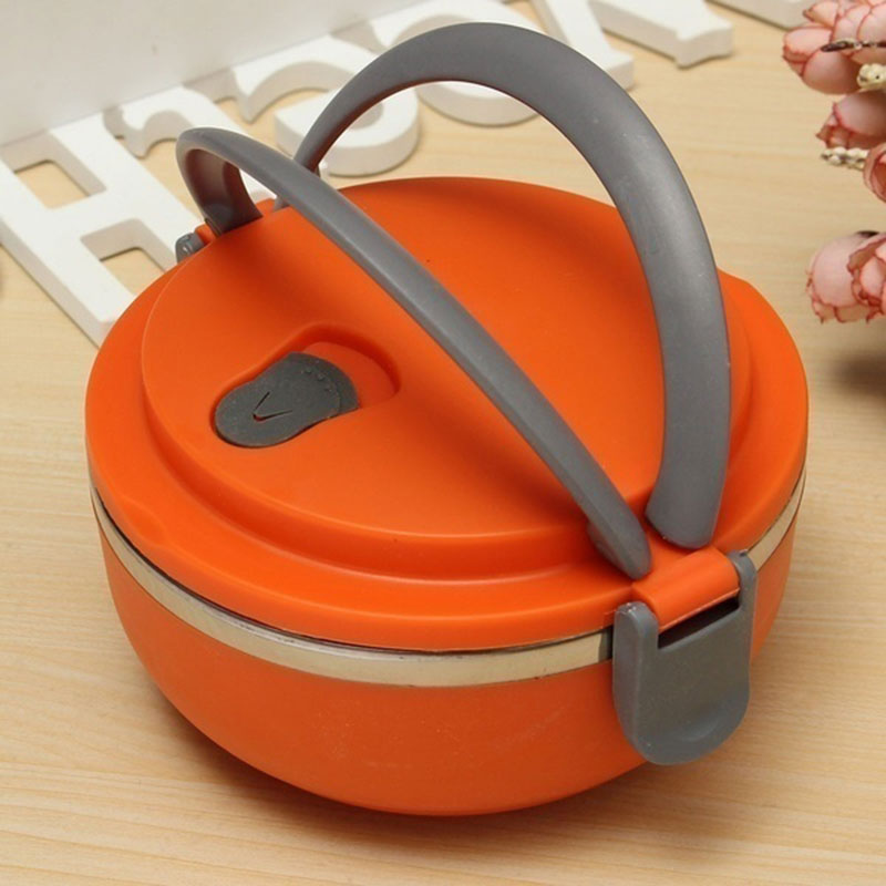 portable handle lunch box stainless steel camping bento container storage ebay. Black Bedroom Furniture Sets. Home Design Ideas