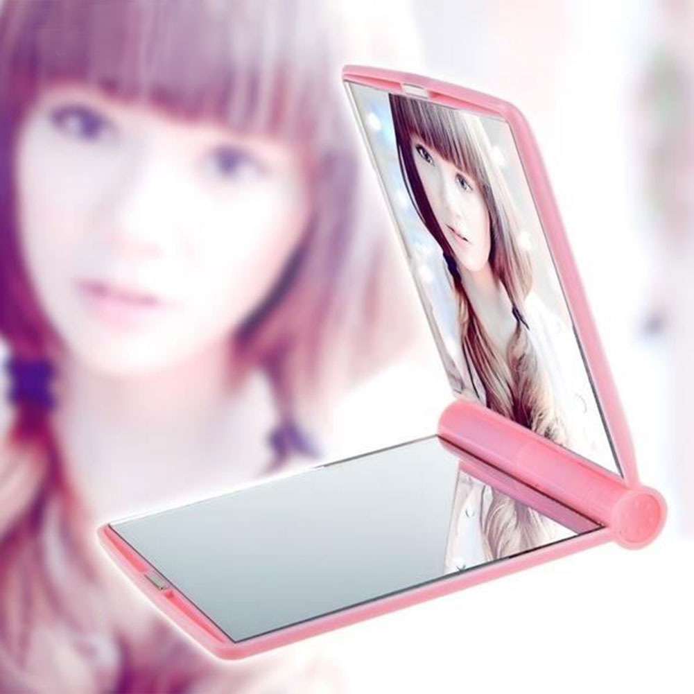 Cosmetic Folding Make Up Mirror Small Two Sided Travel