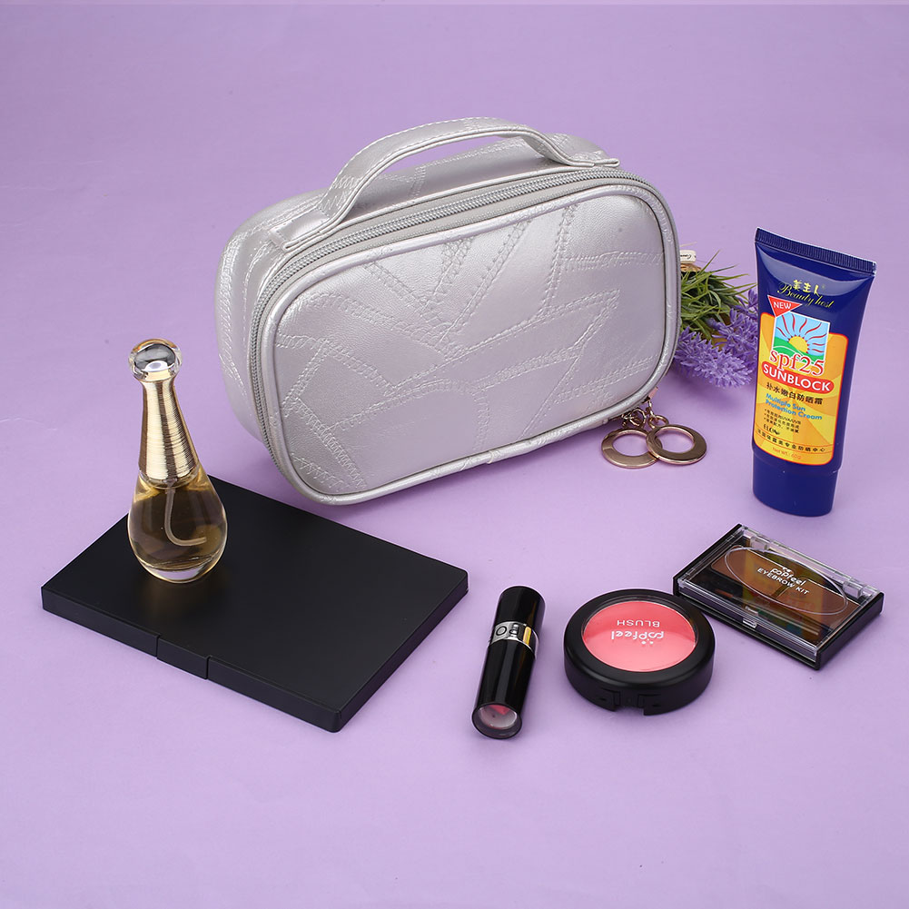 Portable Travel Cosmetic Pu Bag Storage Makeup Wash Case