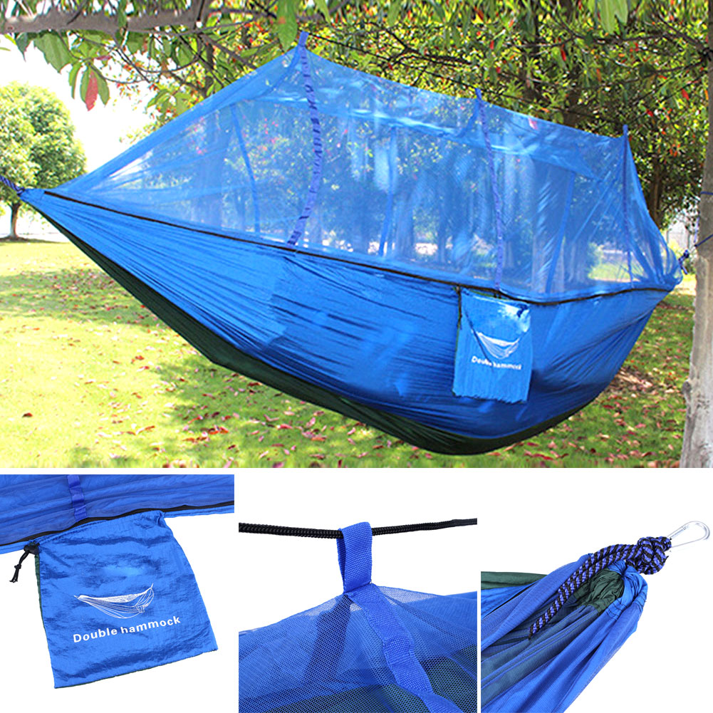 Outdoor jungle camping hammock mosquito net double 2 for Net hammock bed