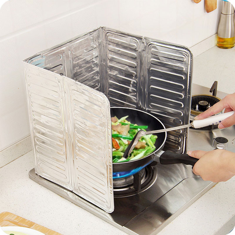 The Non Stick Splatter Shield Keeps Cooking Surfaces, Counters, Walls And  Floors Free From Grease Splatters! Non Stick Surface Is Easy To Clean And  Makes ...