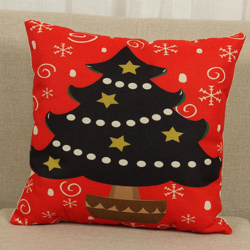 Cute Christmas Style Home Decor Sofa Waist Cushion Covers Pillow Cases eBay