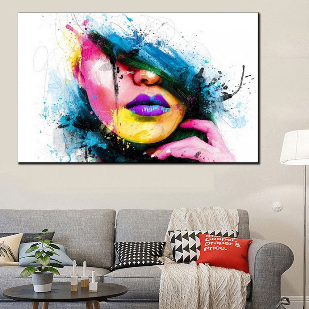 Modern Abstract Canvas Wall Art Painted Oil Painting Of A