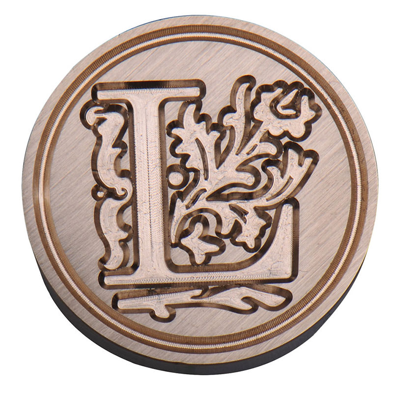 Vintage retro classic initial alphabet wax seal stamp set for Letter seal stamp