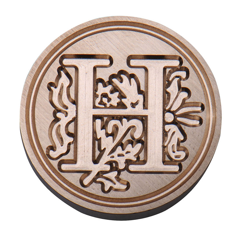 Vintage sealing wax classic initial wax seal stamp for Letter seal stamp