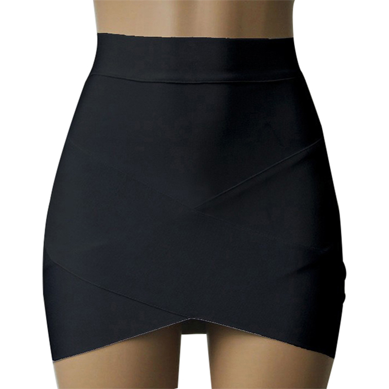 asymmetric pencil bandage high waisted wrap skirt