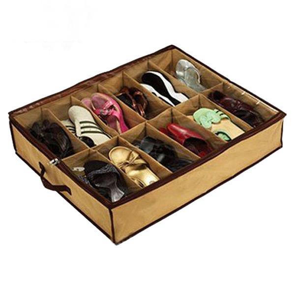 Make U Shoe Storage Foldable Box Space Saving Organizer Holder Case Travel