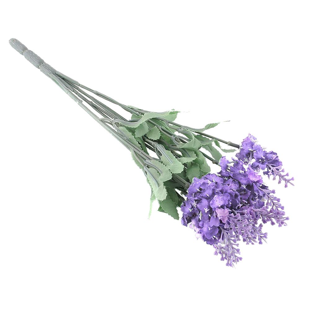 10 Heads Artificial Lavender Garden Plant Flower Bouquet Wedding Party Decor