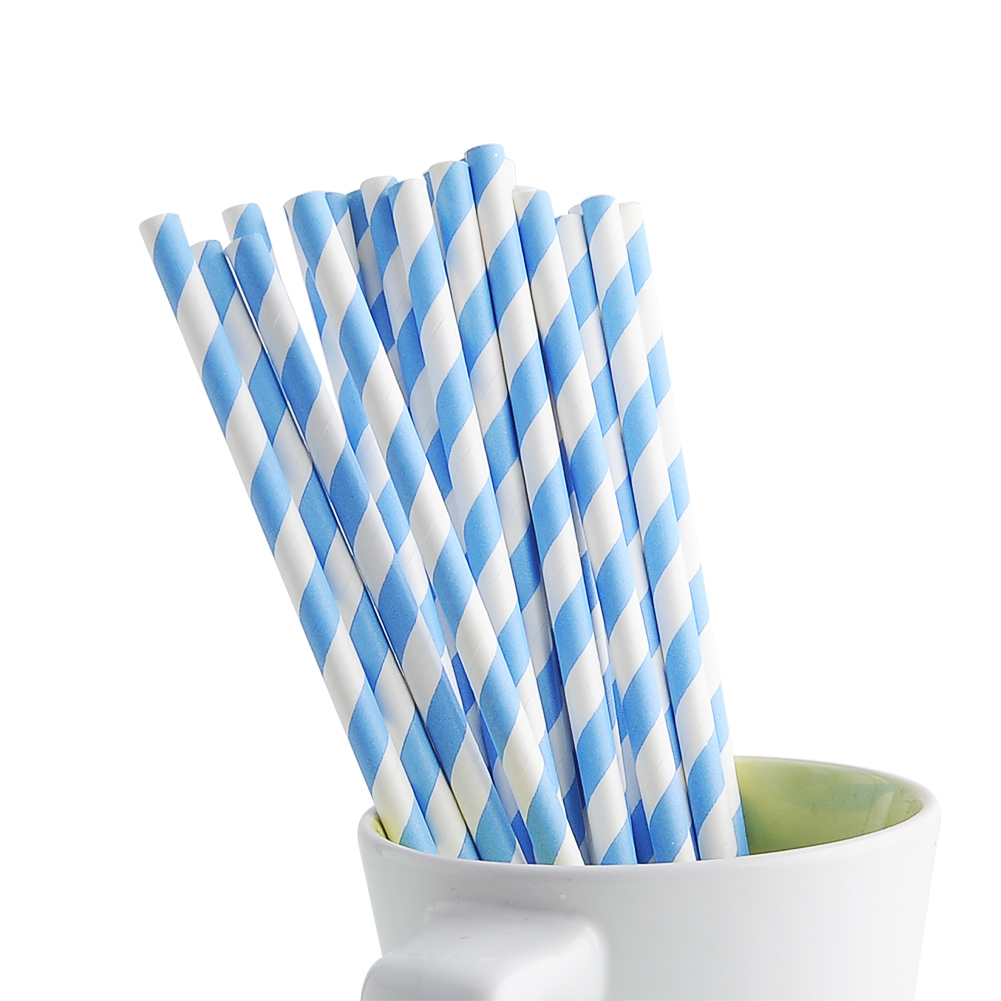 Colorful Striped drinking Straws Wedding Birthday Party decoration Biodegradable