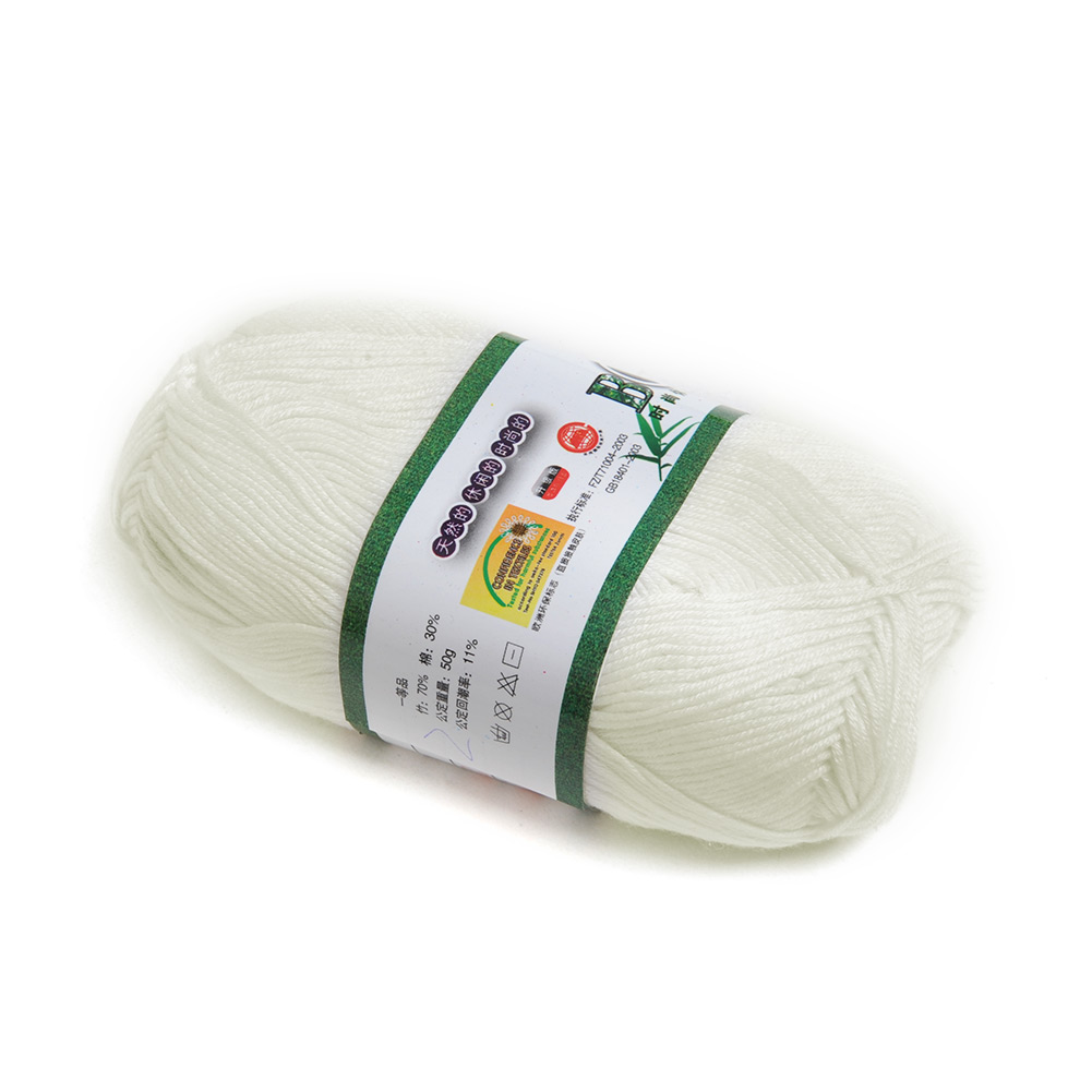 1-2-5-10pcs-Knitting-Yarn-Natural-Soft-Bamboo-Cotton-Skein-Ball-Baby-Yarn-50g