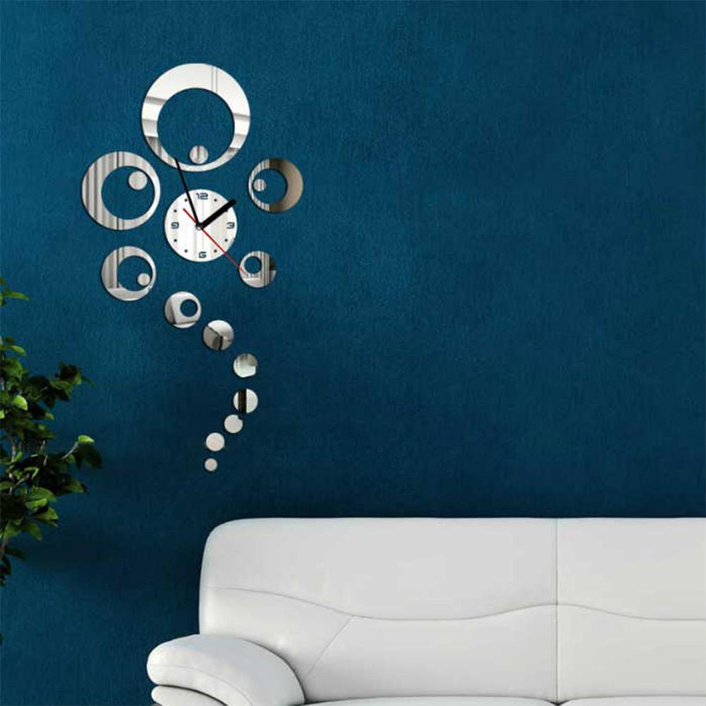 New Style DIY Modern Decoration Acyrlic Mirror Living Room Wall Clock