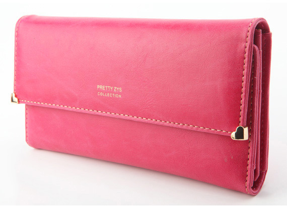 Womens New Fashion Clutch Matte Leather Wallet Card Purse Handbag Candy