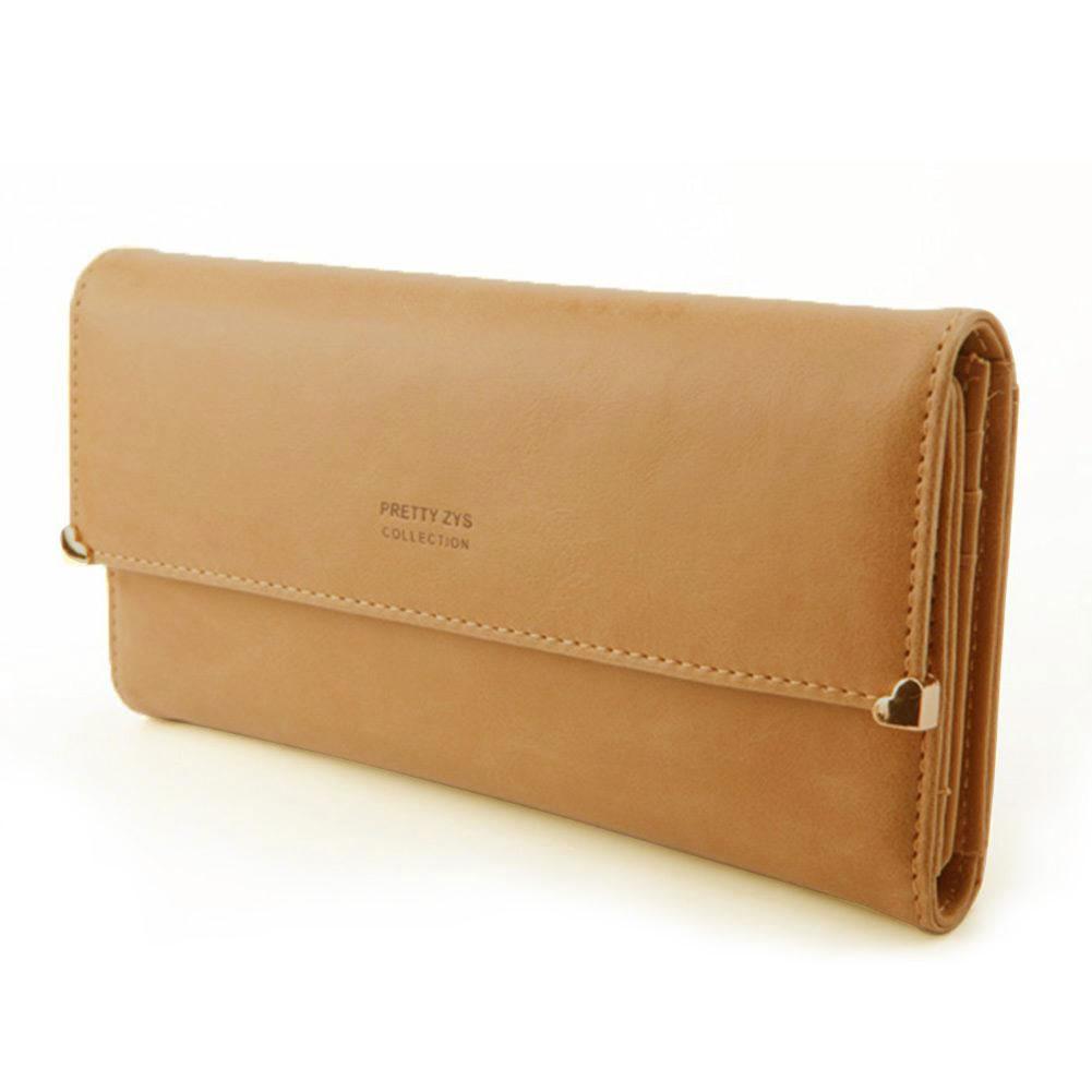 Womens-New-Fashion-Clutch-Matte-Leather-Wallet-Card-Purse-Girl-Handbag