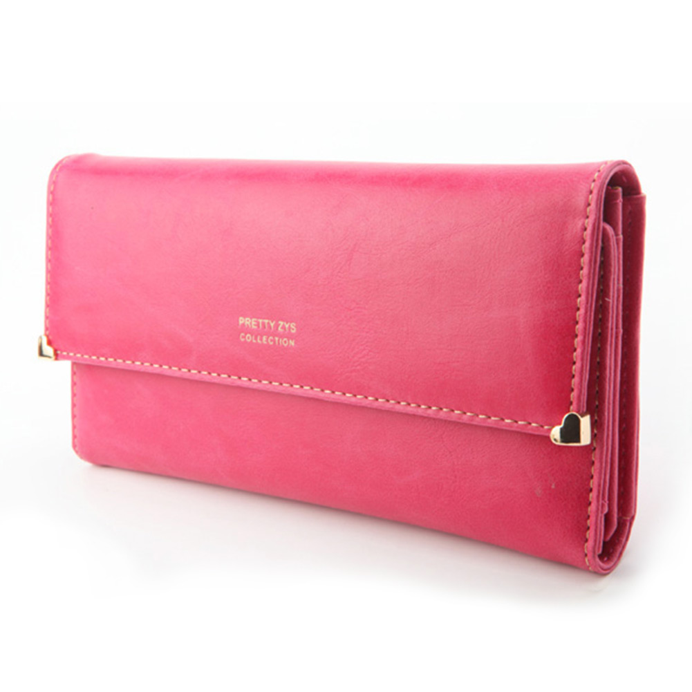 Womens-Clutch-Matte-Leather-Wallet-Lady-Card-Purse-Girl-Handbag-7-Colors