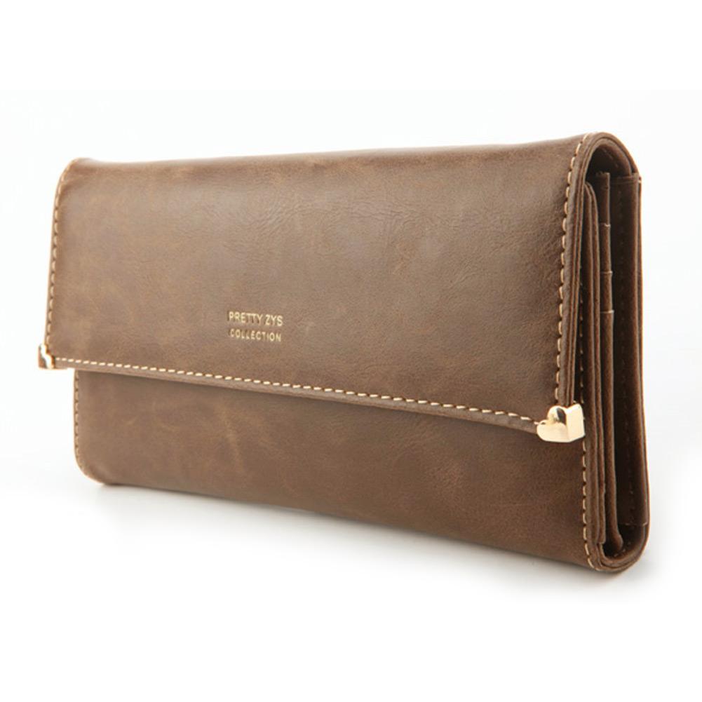 Women-039-s-New-Fashion-Clutch-Matte-Leather-Wallet-Card-Purse-Handbag-Candy