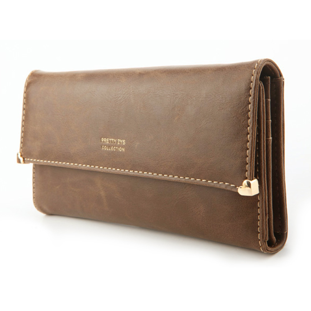Women-039-s-New-Fashion-Clutch-Matte-Leather-Wallet-Lady-Card-Purse-Girl-Handbag