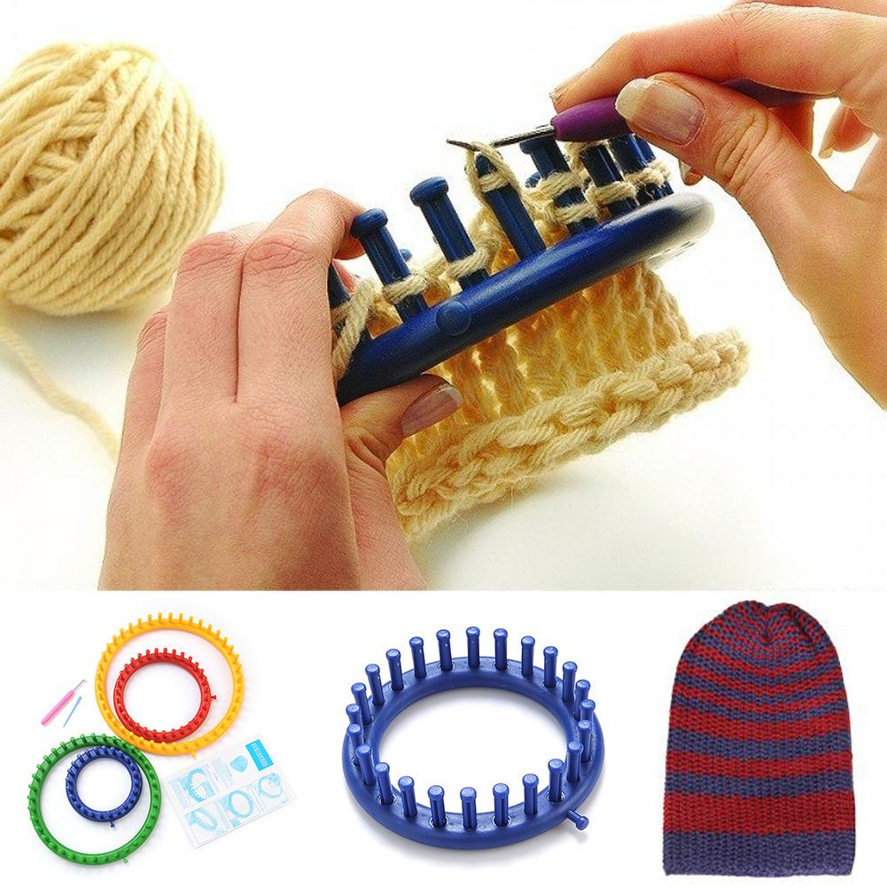 Как вязать с помощью круга для вязания