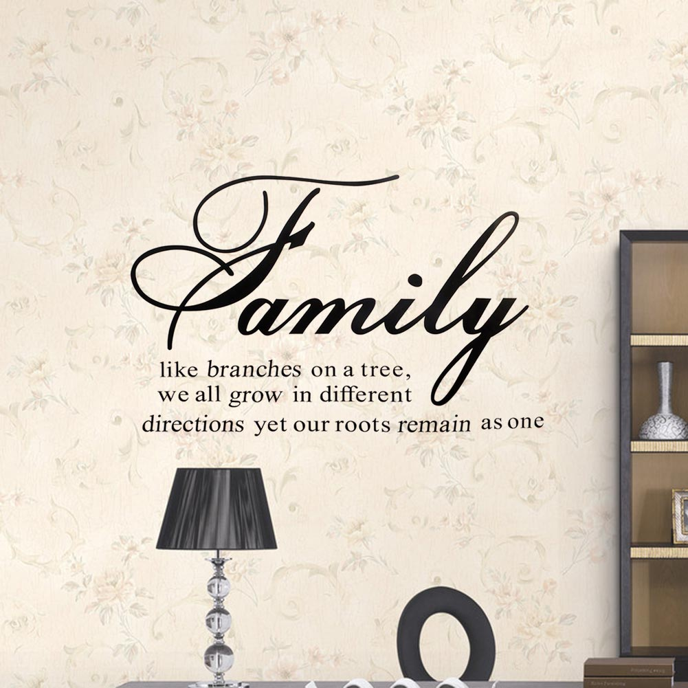 family like branches on a tree quote diy wall sticker